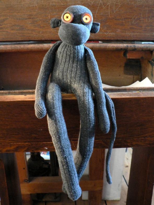 school sock monkey
