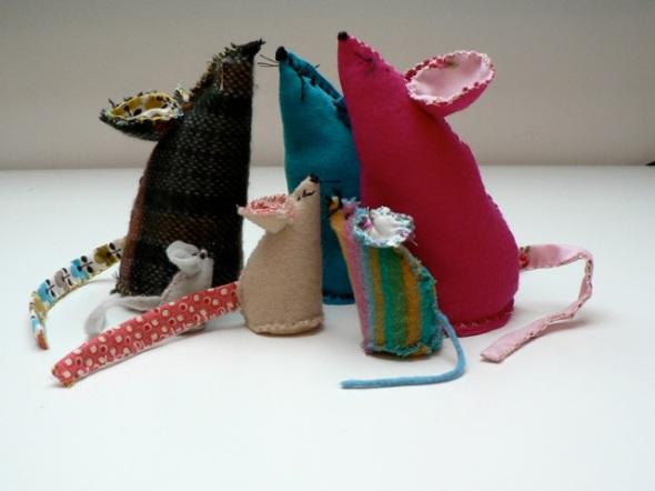 Vintage fabric mice