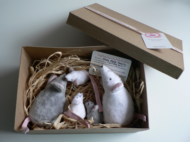 grey and white mice