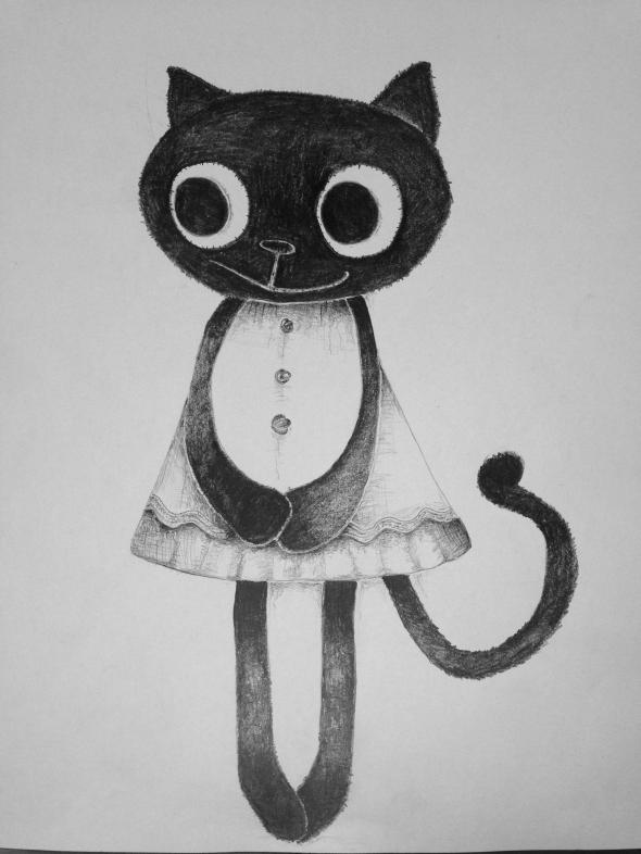 kitten doll sketch