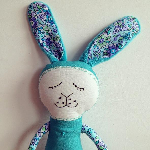 teal bloomsbury bunny
